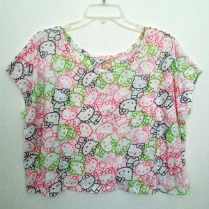 Large Hello Kitty Crop Top